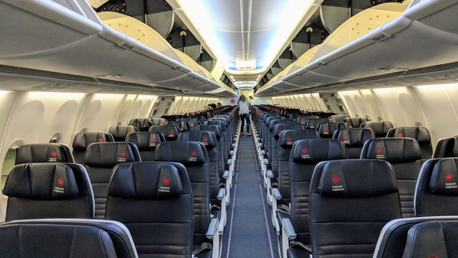 Air Canada Boeing 737 MAX 8 Economy Cabin